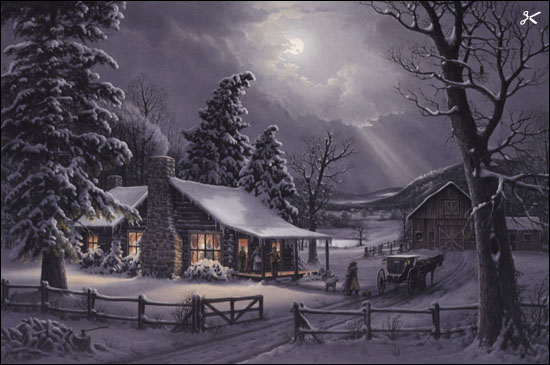 Jesse Barnes A Christmas Embrace Paper And Canvas Art