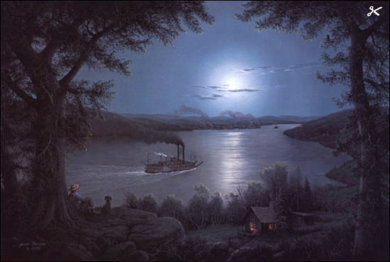 Jesse Barnes Night On The Mississippi Christ Centered Art