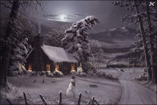 Jesse Barnes Night Before Christmas Christ Centered Art
