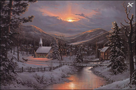 Jesse Barnes Winter S Twilight Christ Centered Art