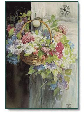 Carolyn Blish Hanging Hydrangeas Christ Centered Art
