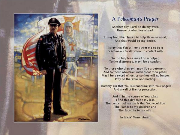 Ron DiCianni - A Policeman's Prayer - Christ-Centered Art