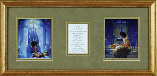 Ron Dicianni Prayer Warriors Framed Paper Art Print By