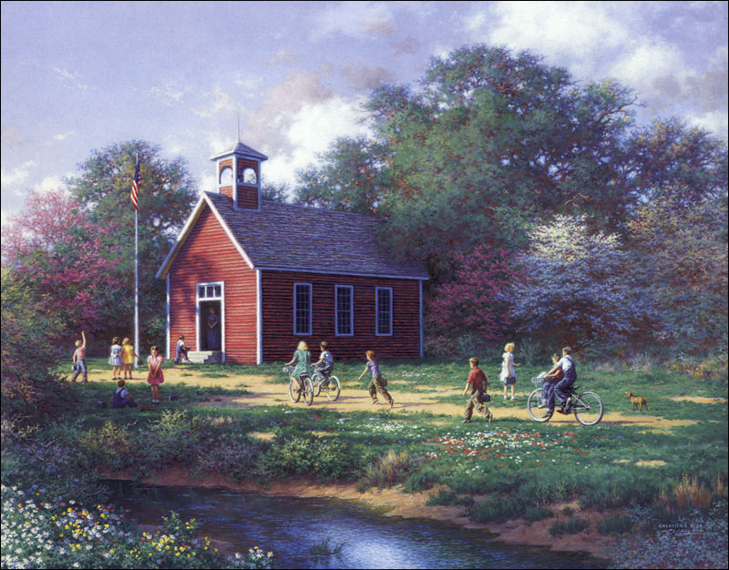 Larry Dyke The Little Red Schoolhouse Christ Centered Art
