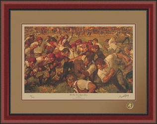 Arnold Friberg The First Intercollegiate Game Christ