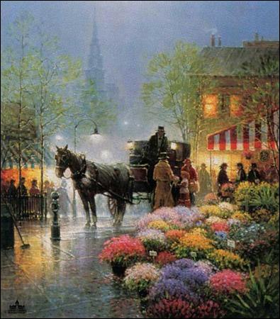 G. Harvey - Flower Market - Christ-Centered Art