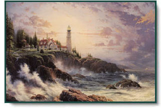 Thomas Kinkade - Clearing Storms - Christ-Centered Art