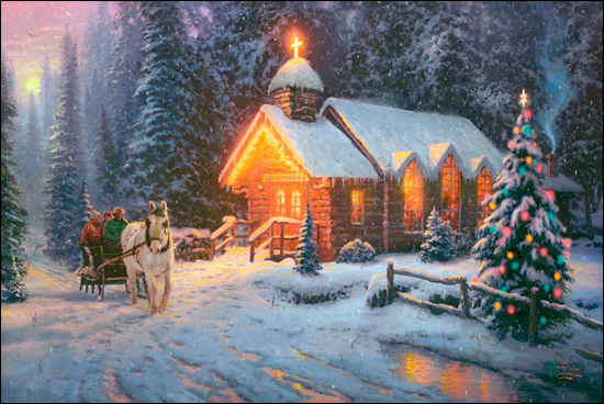 Christmas Chapel by Thomas Kinkade