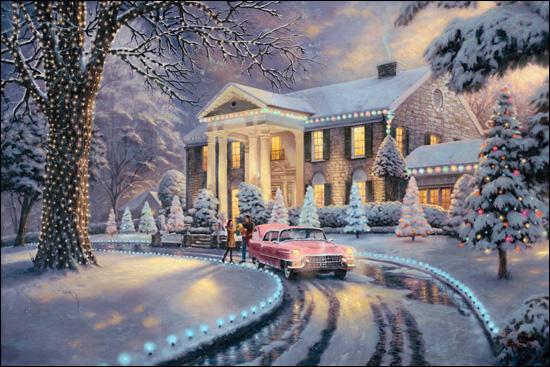 Graceland Christmas By Thomas Kinkade