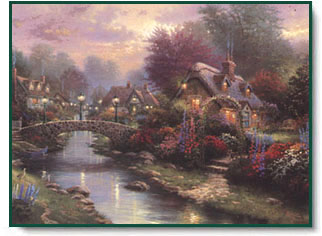 Group Of Thomas Kinkade The Village