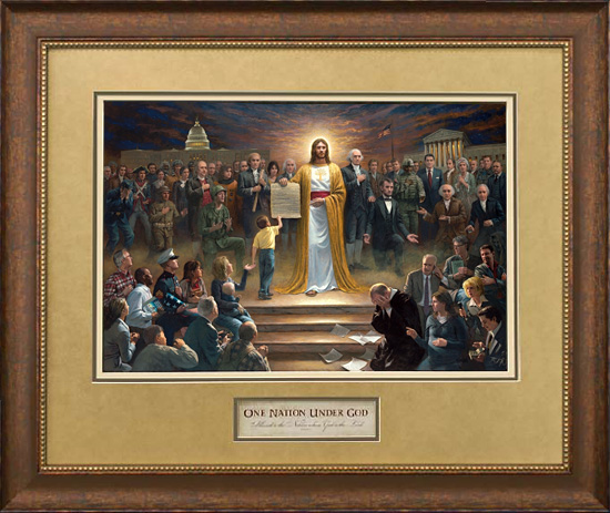 Jon Mcnaughton One Nation Under God Paper And Canvas